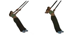Crossfit oefening: Achteruit roeien