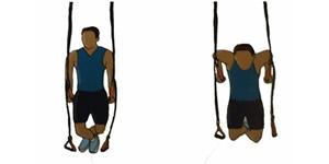 Crossfit oefening: Hangende dips