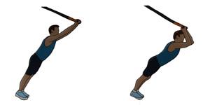 Crossfit oefening: Triceps opdrukken