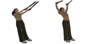 Crossfit oefening: Y-stand schouderoefening