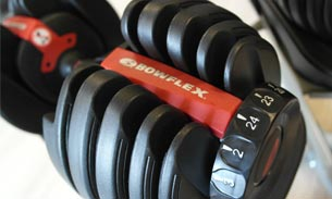 Scava Grobbendonk fitness showroom: Dumbells van de merken Bowflex