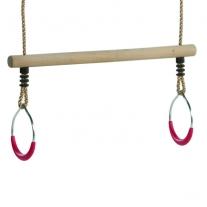 Trapeze met metalen ringen