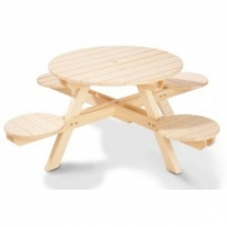 Kinderpicknicktafel Nicki rond (model 2015)