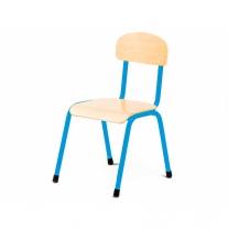 Stalen blauwe stoel 30