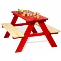Kinderpicknicktafel Nicki voor 4 Rood