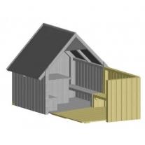 Huisje met terras