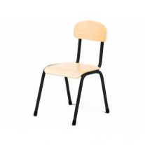 Stalen zwarte stoel 30
