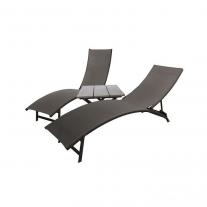 Midtown Sun Lounger 3-delige set - Aluminium