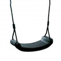 Schommelzitje Kunststof met zwarte touwen