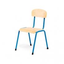 Stalen blauwe stoel 34