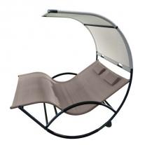 Dubbele schommelstoel voor twee - Aluminium (Cacao)
