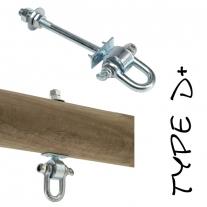 Crochet à travers 140 D-Lock