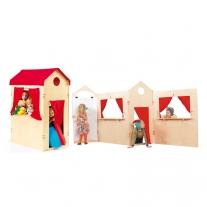Groot houten speelhuis