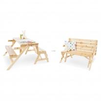 2 in 1 kinderpicknicktafel en zitbank Elli