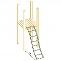 Gebogen metalen ladder
