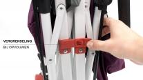 Active Outdoor Opvouwbare Bolderkar met zonnedak en bagagetas