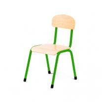 Stalen groene stoel 30