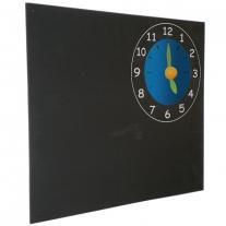 Krijtbord met klok
